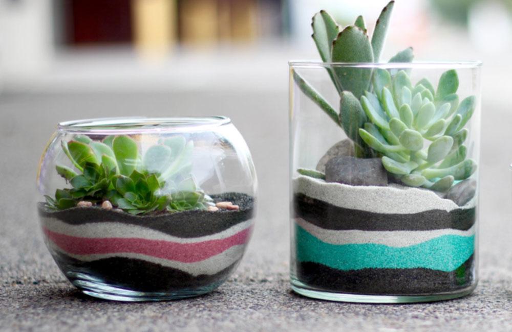 Горшок для цветов из стекла